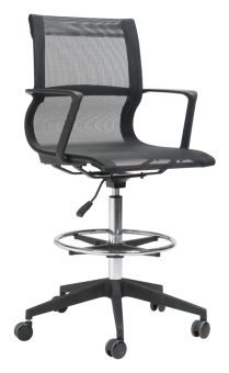 Stacy Drafter Office Chair Black Mesh