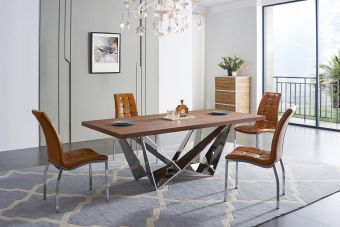 ✅ 104 Dining Table with 365 Chairs Set by ESF | VivaSalotti.com | pic