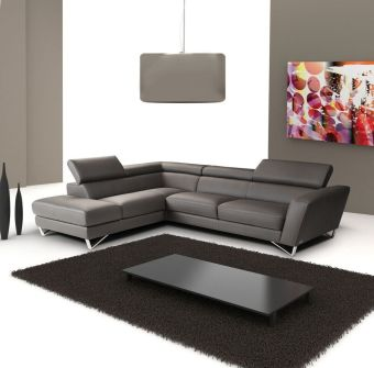 ✅ Sparta Grey Color Left Hand Facing Sectional by J&M | VivaSalotti.com | pic1