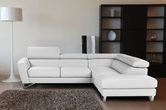 ✅ Sparta Right Hand Facing Sectional in White | VivaSalotti.com | pic1