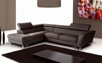 ✅ Sparta Chocolate Color Left Hand Facing Sectional by J&M | VivaSalotti.com | pic1