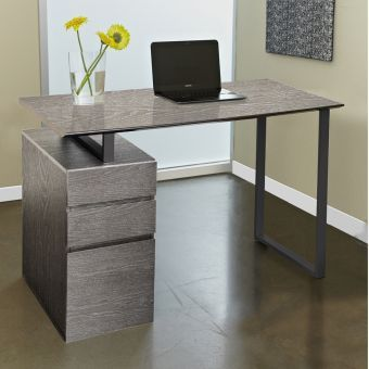 200 Series 220 Grey Writing Desk with Drawers