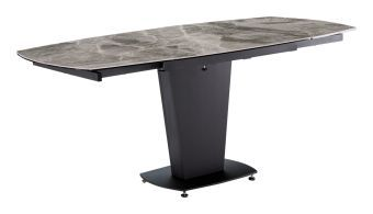 ✅ 2417 Marble Rectangular Extendable Dining Table, Grey Taupe by ESF   VivaSalotti.com   pic9