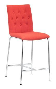 Uppsala Counter Chair Tangerine (Set of 2)