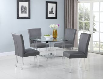 4038 5 Pieces Dining Set (Table with 4 Parson Chairs)