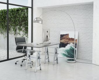 Galactic Floor Lamp Chrome