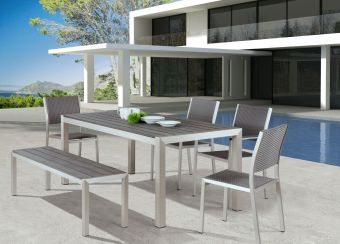 Metropolitan Dining Table B. Aluminum