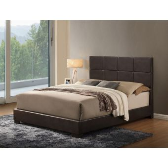 8566 Brown Gloss Queen Bed