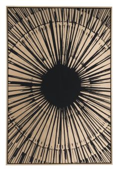 Gold Sunburst Canvas Black & Gold