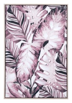 Tropical Palm Canvas Sepia