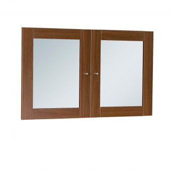 100 Series Walnut Glass Doors for Hutches & Bookcases