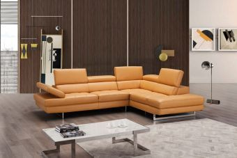 ✅ A761 Italian Leather Sectional Freesia In Right Hand Facing Chaise | VivaSalotti.com | pic