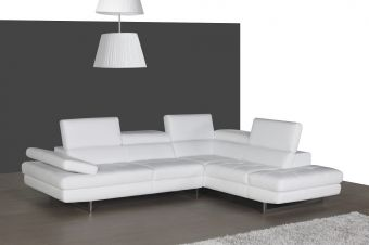 ✅ A761 Italian Leather Sectional White In Right Hand Facing | VivaSalotti.com | pic2