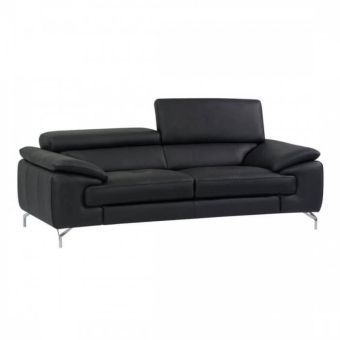 ✅ A973 Italian Leather Sofa in Black | VivaSalotti.com | pic1