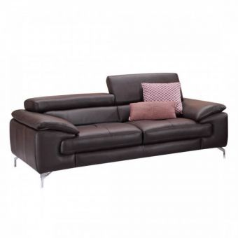 ✅ A973 Italian Leather Sofa in Coffee | VivaSalotti.com | pic1