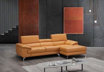 ✅ A973B Italian Leather Mini Sectional Freesia In Right Facing Chaise | VivaSalotti.com | pic5