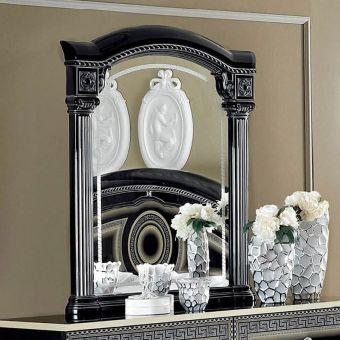 ✅ Aida Classic Mirror by ESF, Black and Silver | VivaSalotti.com | pic4