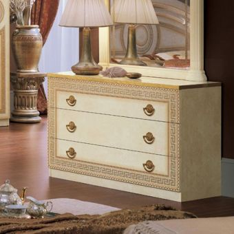 ✅ Aida Classic Single Dresser by ESF, Ivory and Gold | VivaSalotti.com | pic