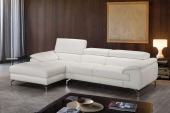 ✅ Alice Premium Leather Sectional In Left Facing Chaise | VivaSalotti.com | pic1