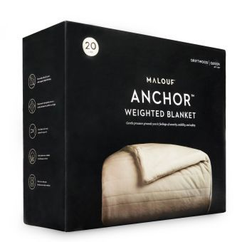 "Anchor™ Weighted Blanket, 60"" x 80"", 12 lbs, Driftwood"