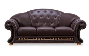 ✅ Apolo Brown Italian Leather Sofa by ESF | VivaSalotti.com | pic1