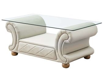 ✅ Apolo Pearl Italian Leather Coffee Table by ESF | VivaSalotti.com | pic2