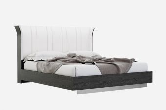 Moonlight King Size Bed Grey