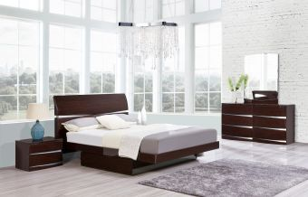 Aurora Modern Bed Set Wenge