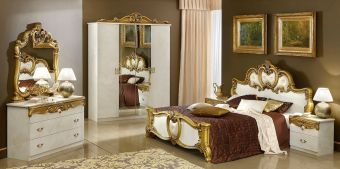 ✅ Barocco Bedroom Set Ivory and Gold by ESF | VivaSalotti.com | pic