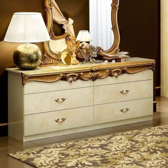 ✅ Barocco Double Dresser Ivory and Gold by ESF | VivaSalotti.com | pic2