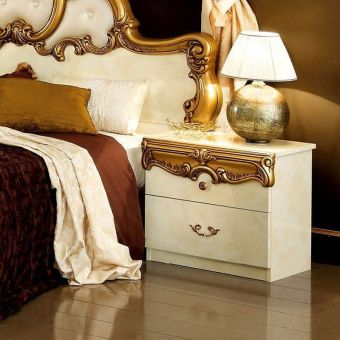 ✅ Barocco Nightstand Ivory and Gold by ESF | VivaSalotti.com | pic3