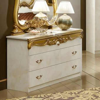 ✅ Barocco Single Dresser Ivory and Gold by ESF | VivaSalotti.com | pic3
