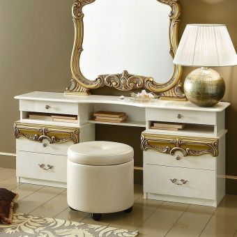 ✅ Barocco Vanity Dresser Ivory and Gold by ESF | VivaSalotti.com | pic3