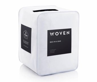 Woven Bed In A Bag, Full, White