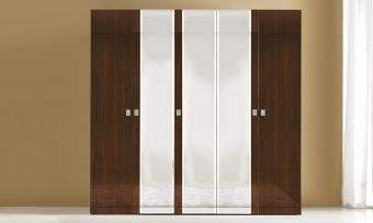 Onda 4 Door Wardrobe Walnut by ESF