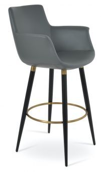 Bottega Arm Ana Leatherette Bar Stool