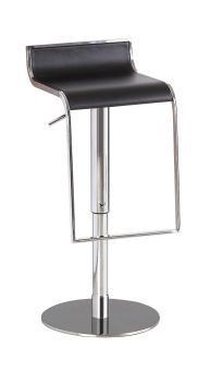 ✅ C027B-3 Black Leather Barstool | VivaSalotti.com | pic1