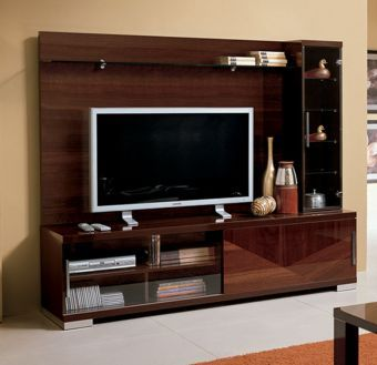 ✅ Capri TV Wall Unit Walnut by ESF | VivaSalotti.com | pic1
