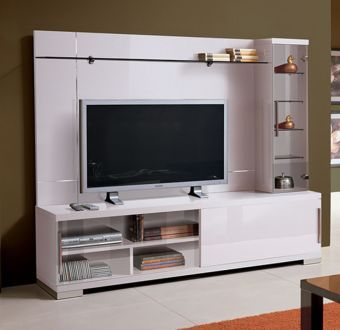 ✅ Capri TV Wall Unit White by ESF | VivaSalotti.com | pic3