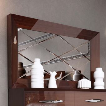 ✅ Carmen Mirror for Double Dresser Walnut | VivaSalotti.com | pic2
