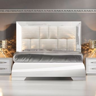 ✅ Carmen White Queen Size Bed by ESF | VivaSalotti.com | pic1