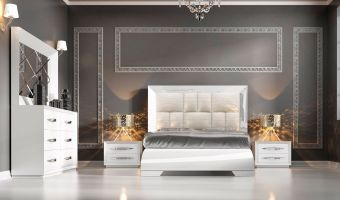 ✅ Carmen Platform Bedroom Set White by ESF | VivaSalotti.com | pic2