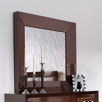 ✅ Carmen Mirror for Single Dresser Walnut | VivaSalotti.com | pic3