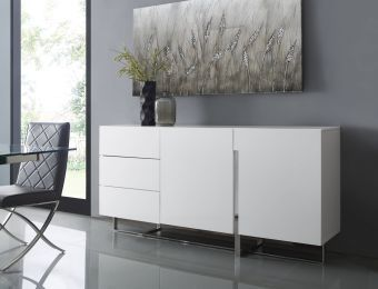 COLLINS Buffet in High Gloss White Lacquer