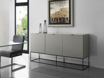 VIZZIONE Buffet in High Gloss Taupe Lacquer