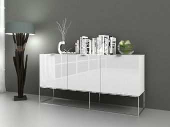 ✅ VIZZIONE Buffet in High Gloss White Lacquer | VivaSalotti.com | pic7