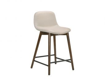 STELLAR Bar Stool in Light Gray Leather