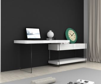 Cloud Desk White High Gloss