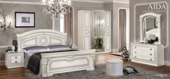✅ Aida Classic Bedroom Set by ESF, White and Silver | VivaSalotti.com | pic
