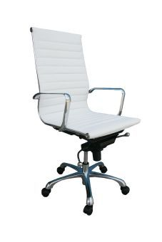 ✅ Comfy High Back White Office Chair | VivaSalotti.com | pic2